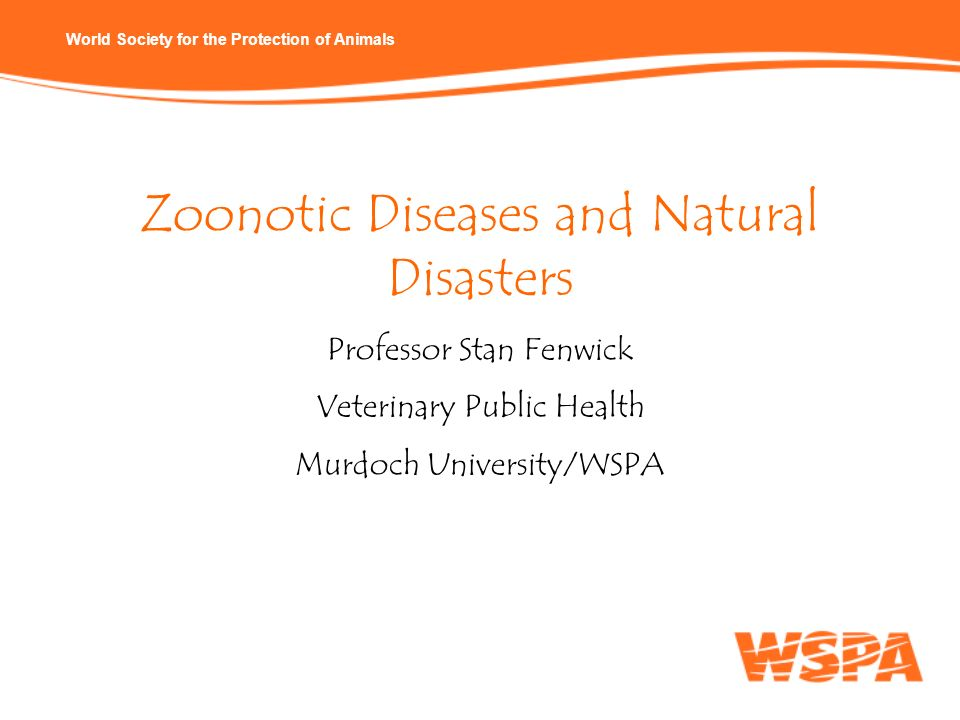 Zoonotic Diseases and Natural Disasters