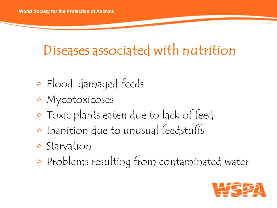 Diseases associated with nutrition