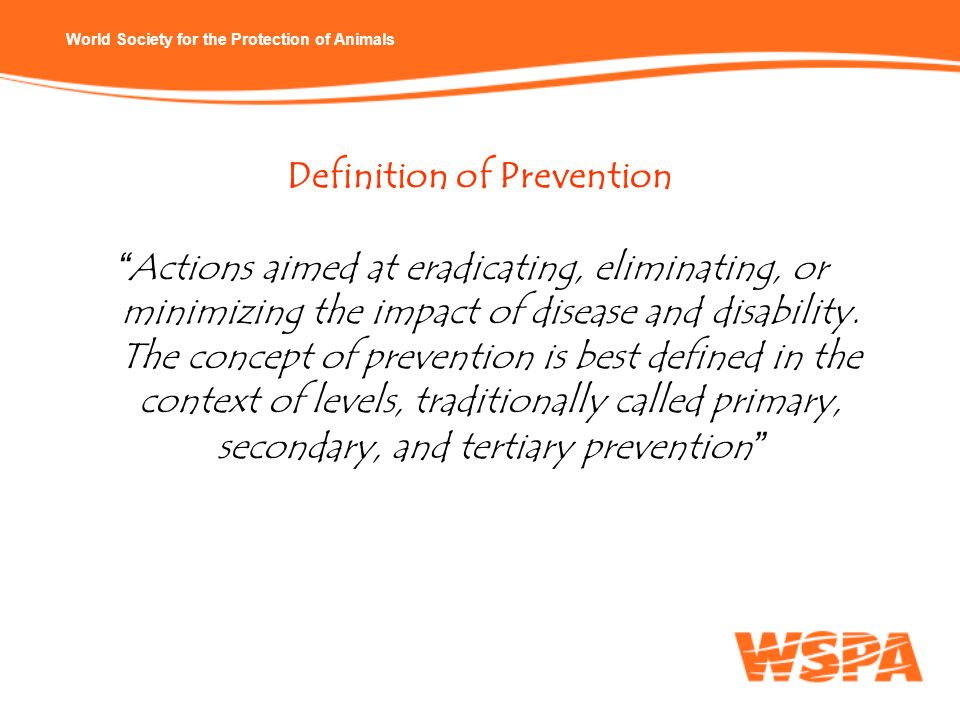 Definition of Prevention