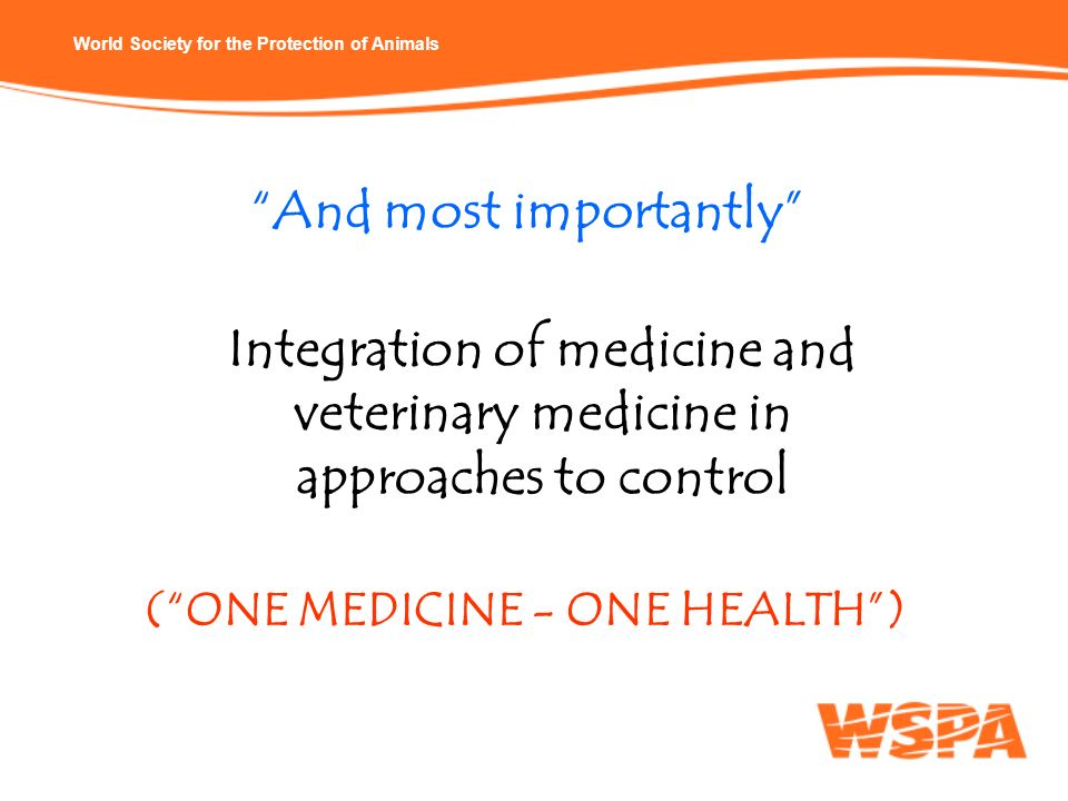 ( ONE MEDICINE - ONE HEALTH )