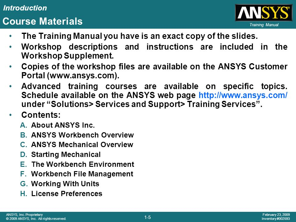 ansys customer training material pdf