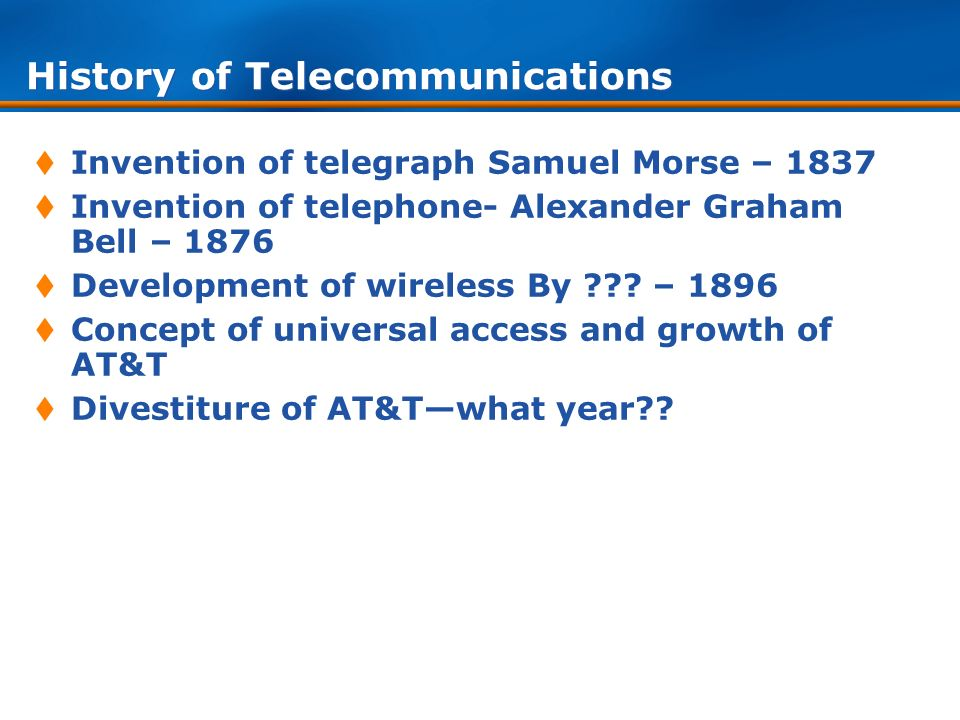 history of telecommunications The era of modern telecommunications began in the latter half of the 19th century , and transformed the world as much as the motor car and.