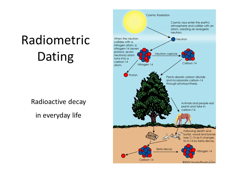 Radiometric Dating Radioactive decay in everyday life 18.7 (skip 18.6)