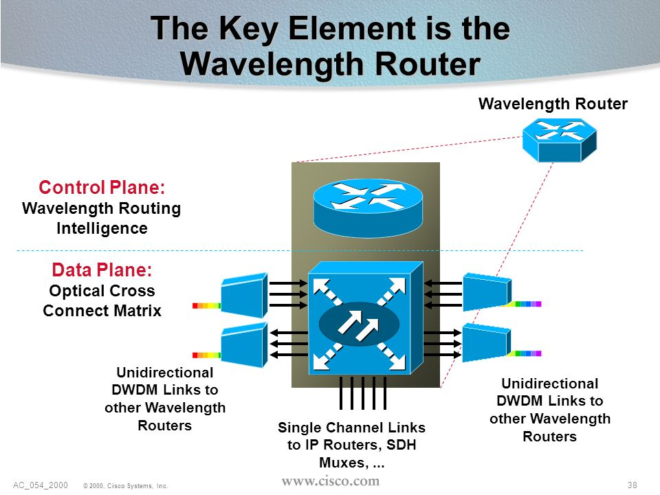 The Key Element is the Wavelength Router