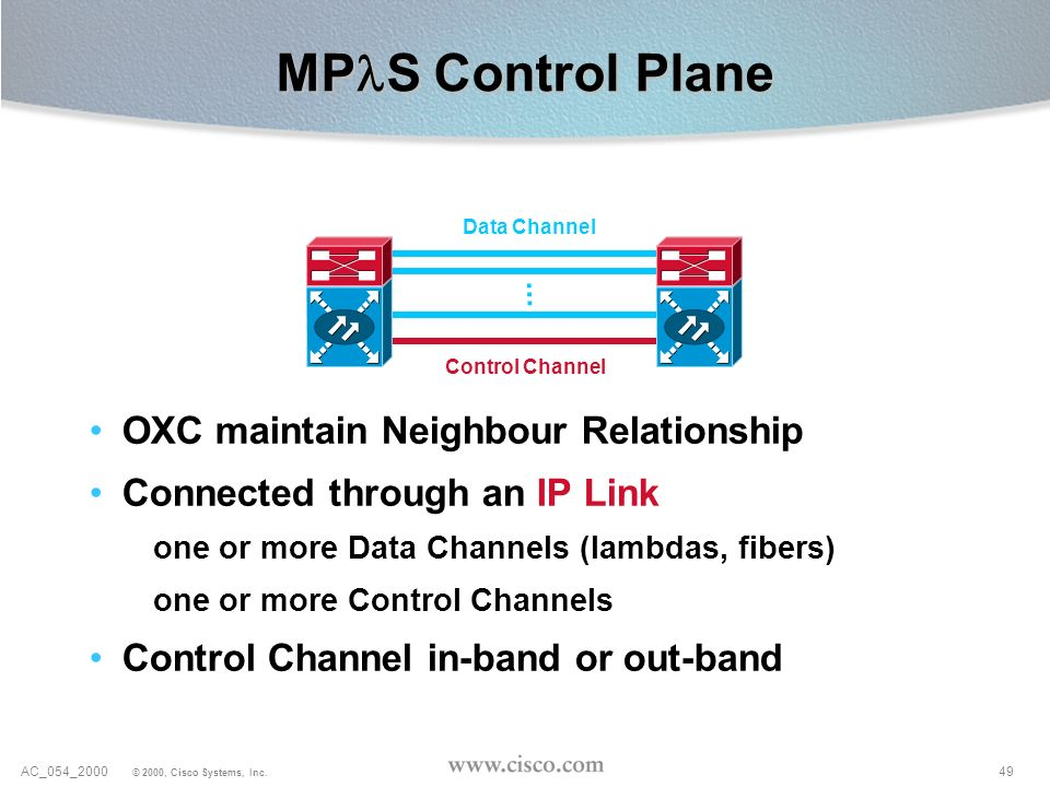 MPlS Control Plane OXC maintain Neighbour Relationship