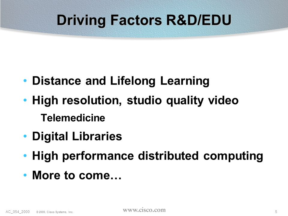 Driving Factors R&D/EDU
