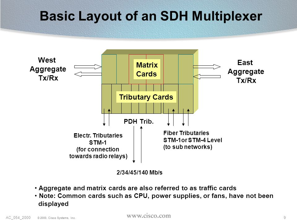 Basic Layout of an SDH Multiplexer