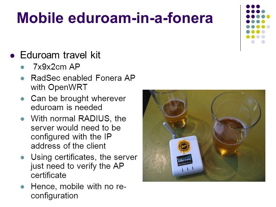 Mobile eduroam-in-a-fonera