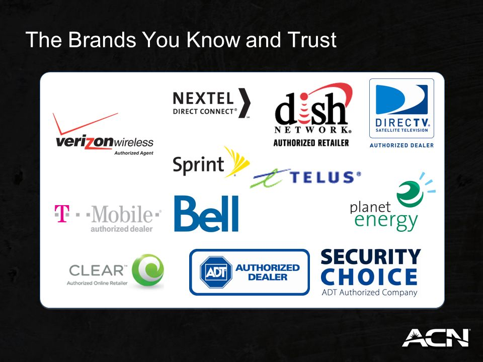 The Brands You Know and Trust