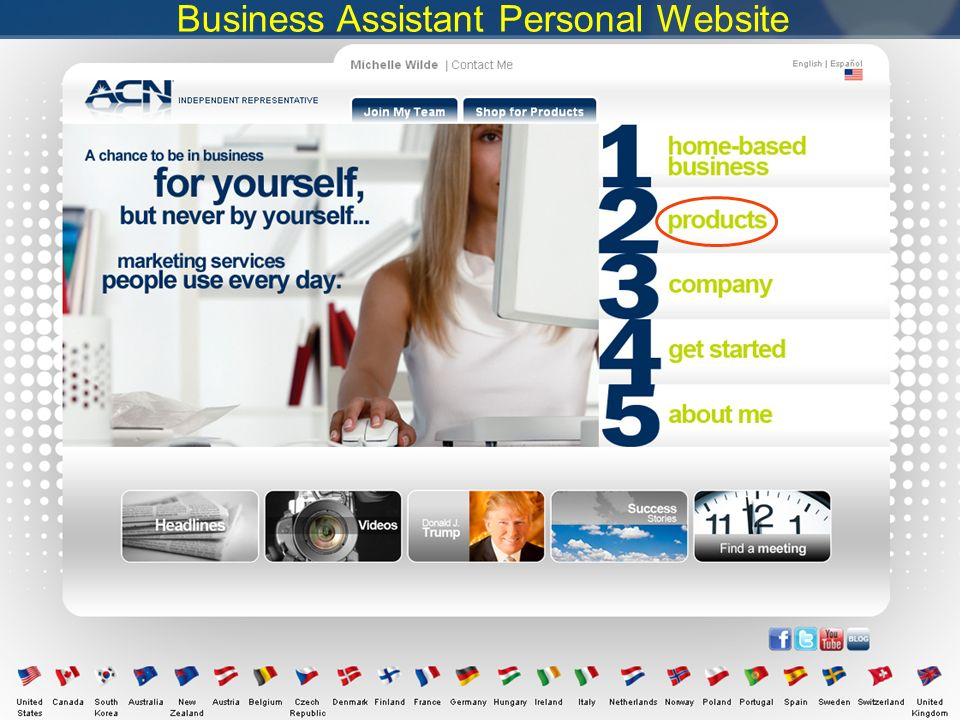 Business Assistant Personal Website
