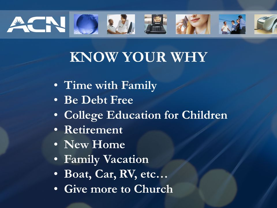 KNOW YOUR WHY Time with Family Be Debt Free