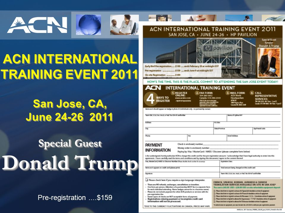 ACN INTERNATIONAL TRAINING EVENT 2011