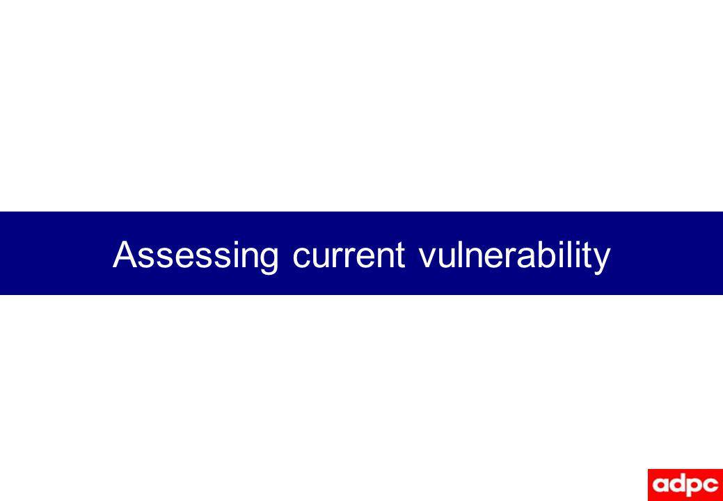 Assessing current vulnerability