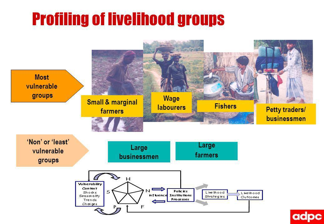 Profiling of livelihood groups