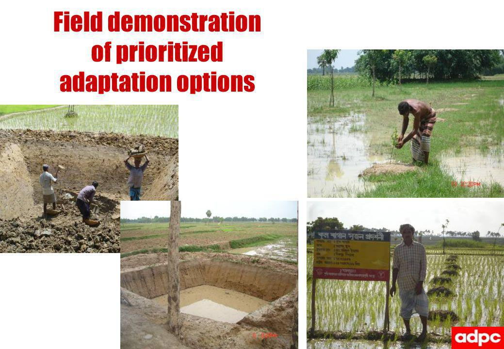 Field demonstration of prioritized adaptation options