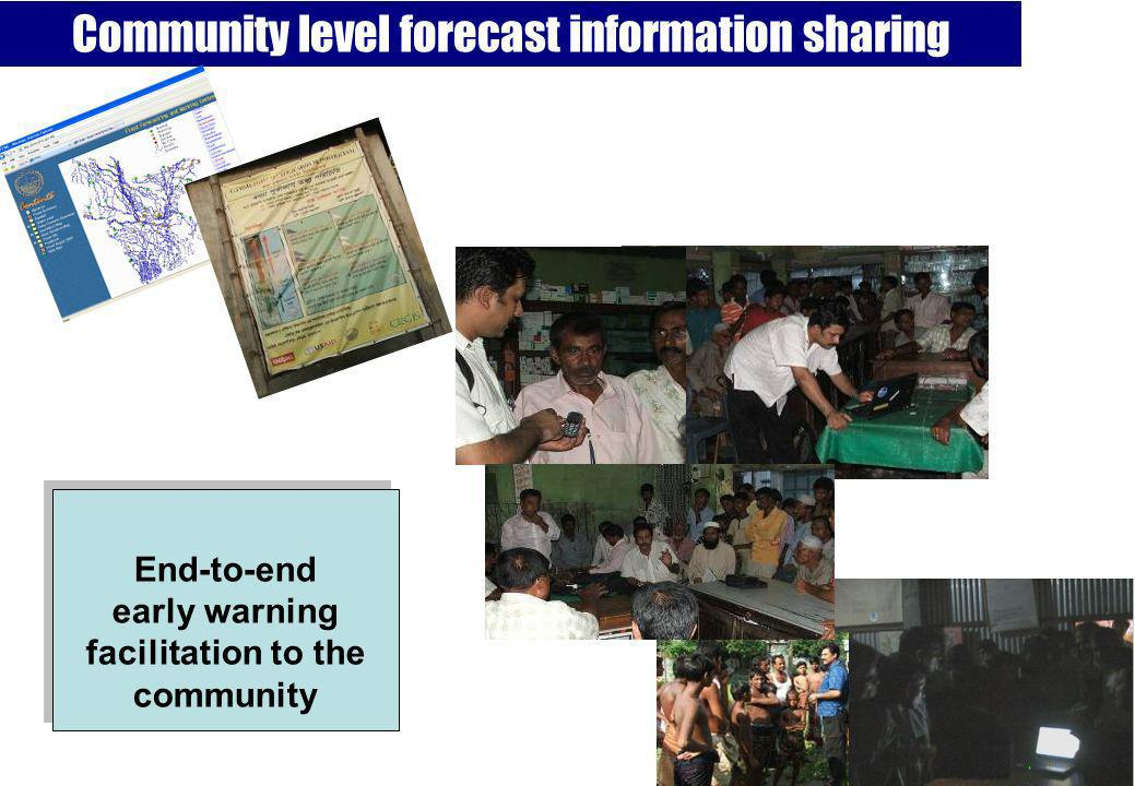 Community level forecast information sharing