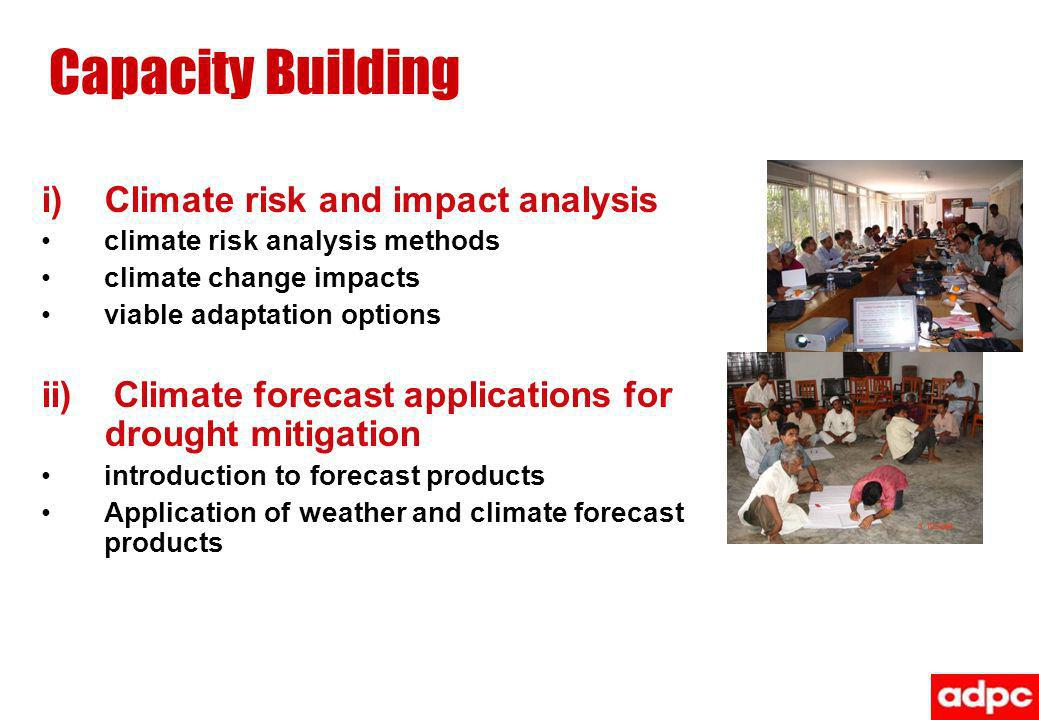 Capacity Building Climate risk and impact analysis