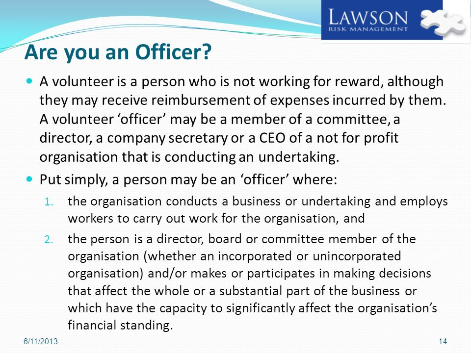 Board Members Responsibilities under the Work Health & Safety Act 2012