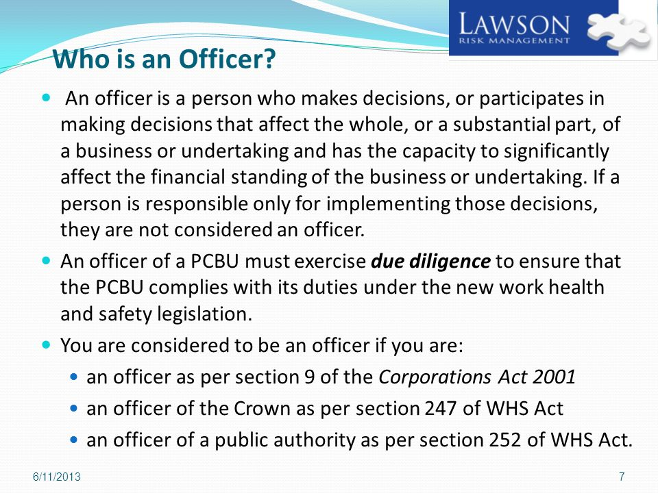 Who is an Officer