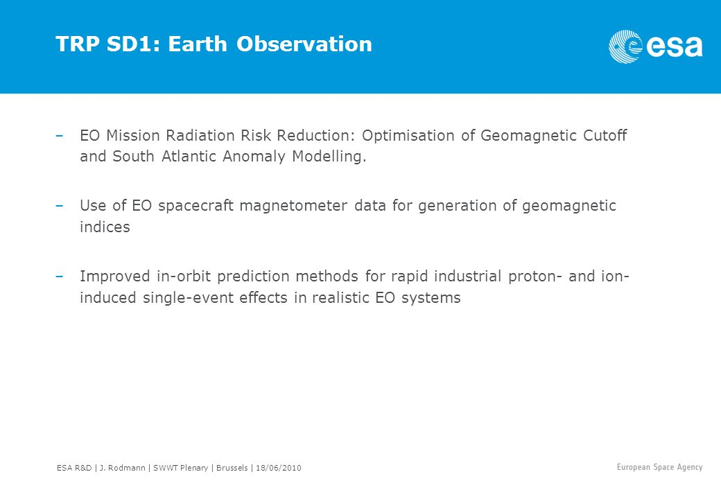 TRP SD1: Earth Observation