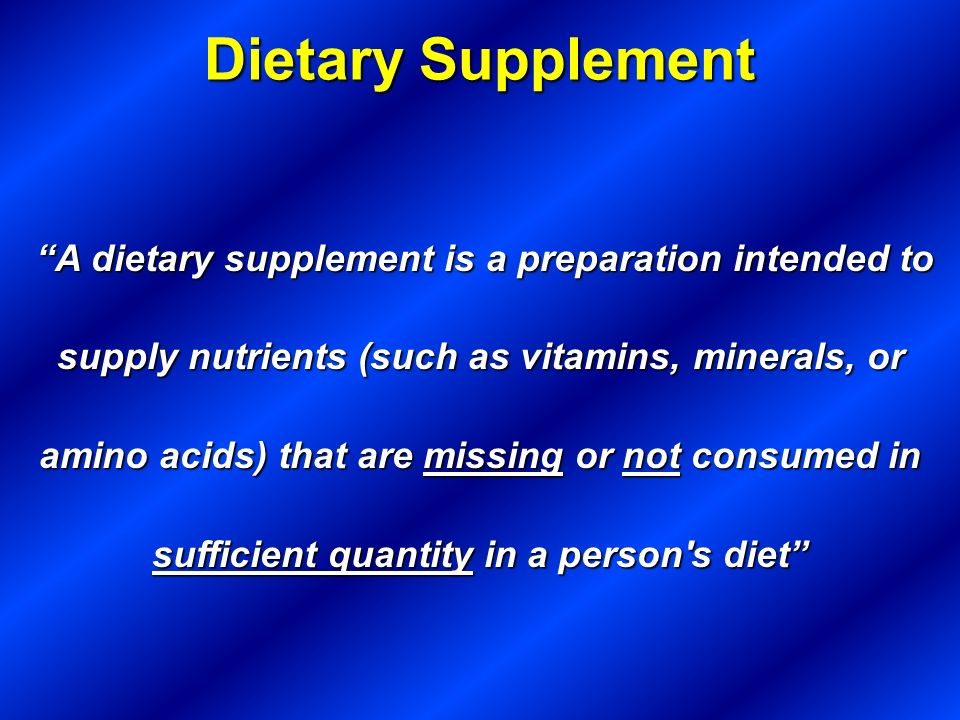 Dietary Supplement