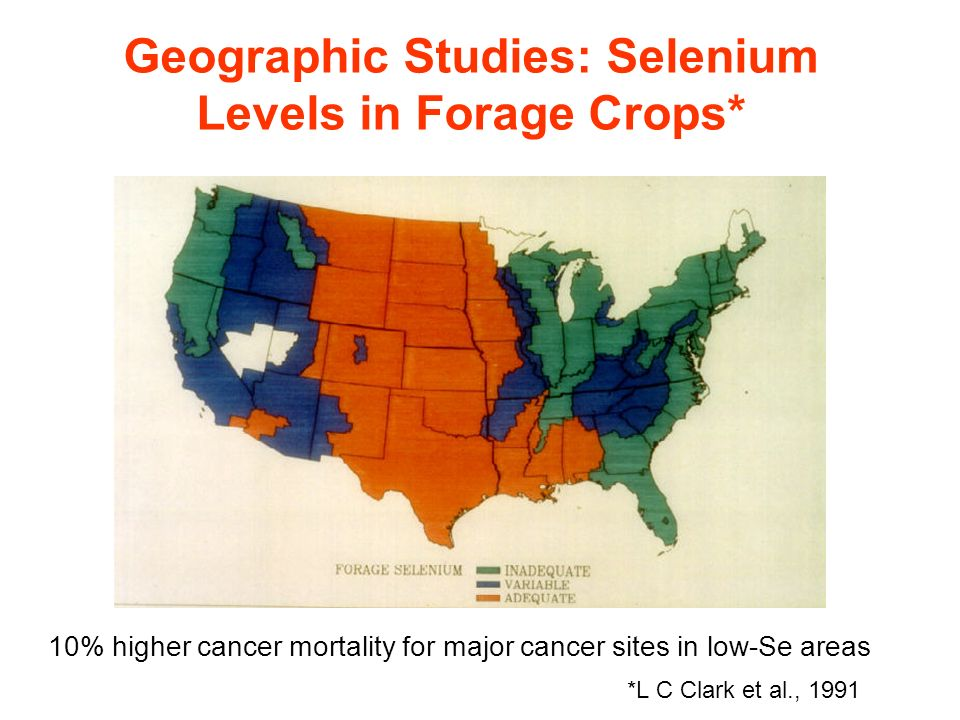 Geographic Studies: Selenium Levels in Forage Crops*