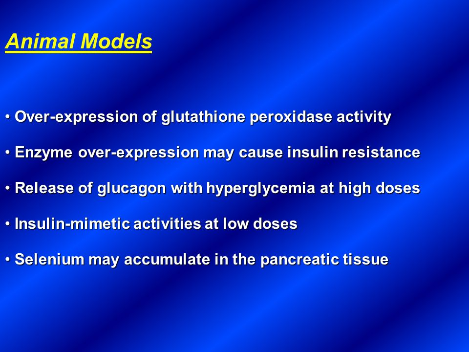 Animal Models Over-expression of glutathione peroxidase activity