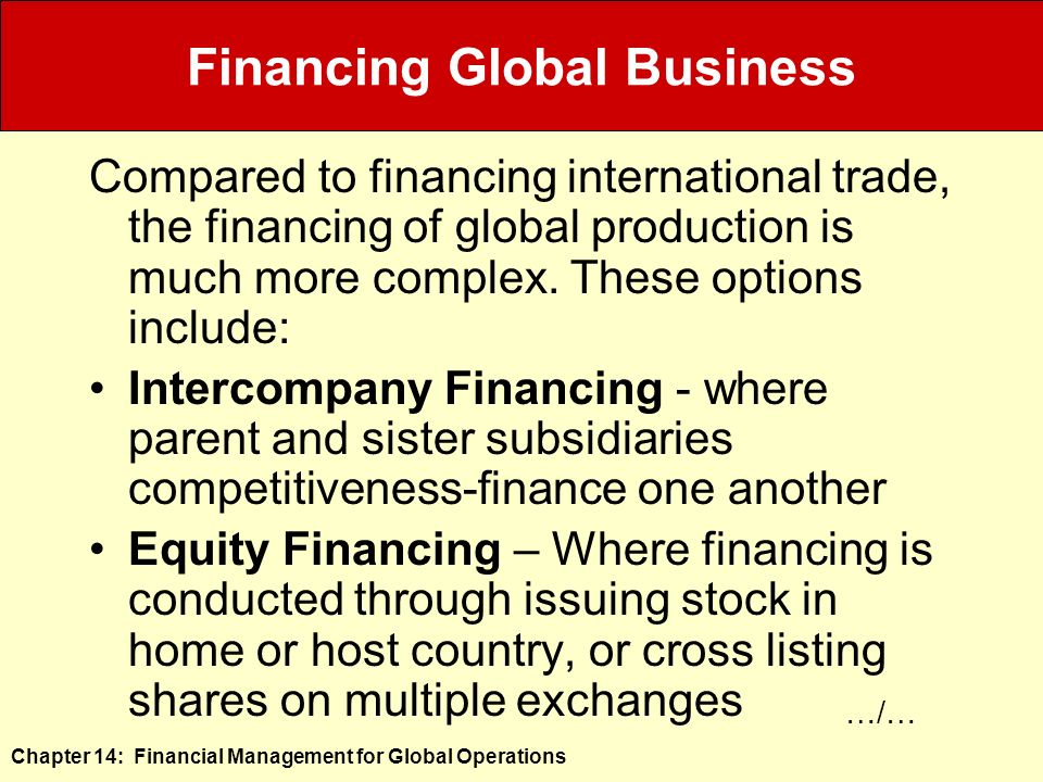 international business finance session 1 Managing an international business differs from managing a domestic business because: countries are different firms have to find ways to work within the limits imposed by government intervention in the international trade and investment system.