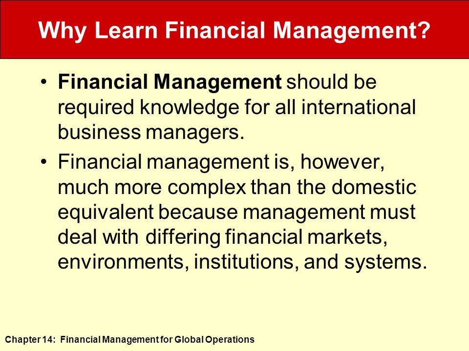 corporate financial management chapter 14 agency Corporate finance is the area of finance dealing with the sources of funding and  the capital  financial management overlaps with the financial function of the  accounting profession  value ch 5 in strategic risk taking: a framework for  risk management  this page was last edited on 2 august 2018, at 14:54 (utc .