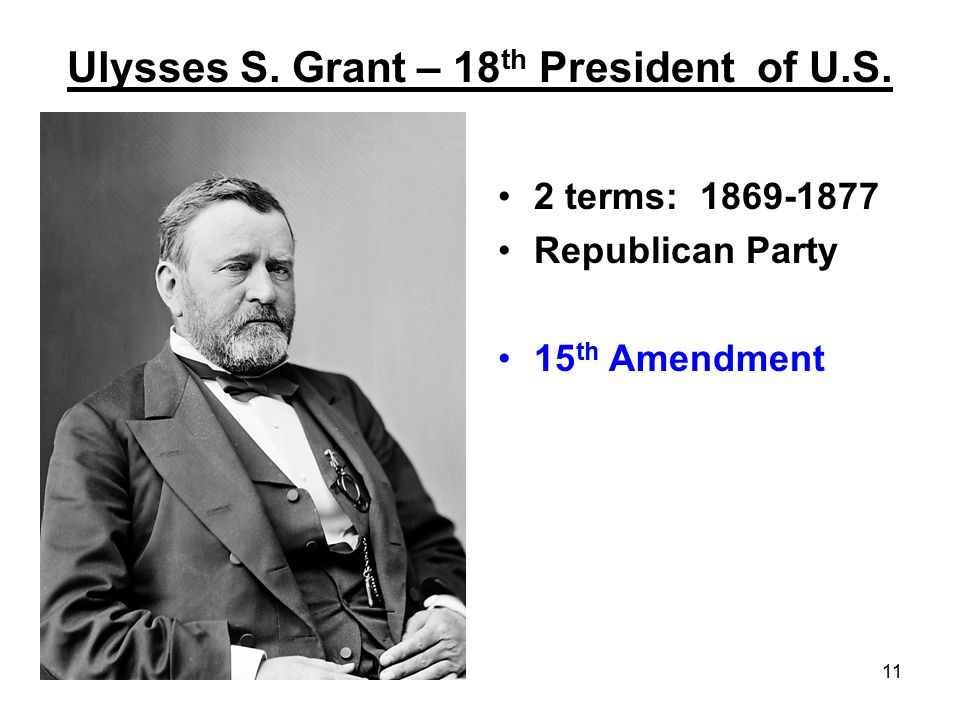 Ulysses S. Grant – 18th President of U.S.