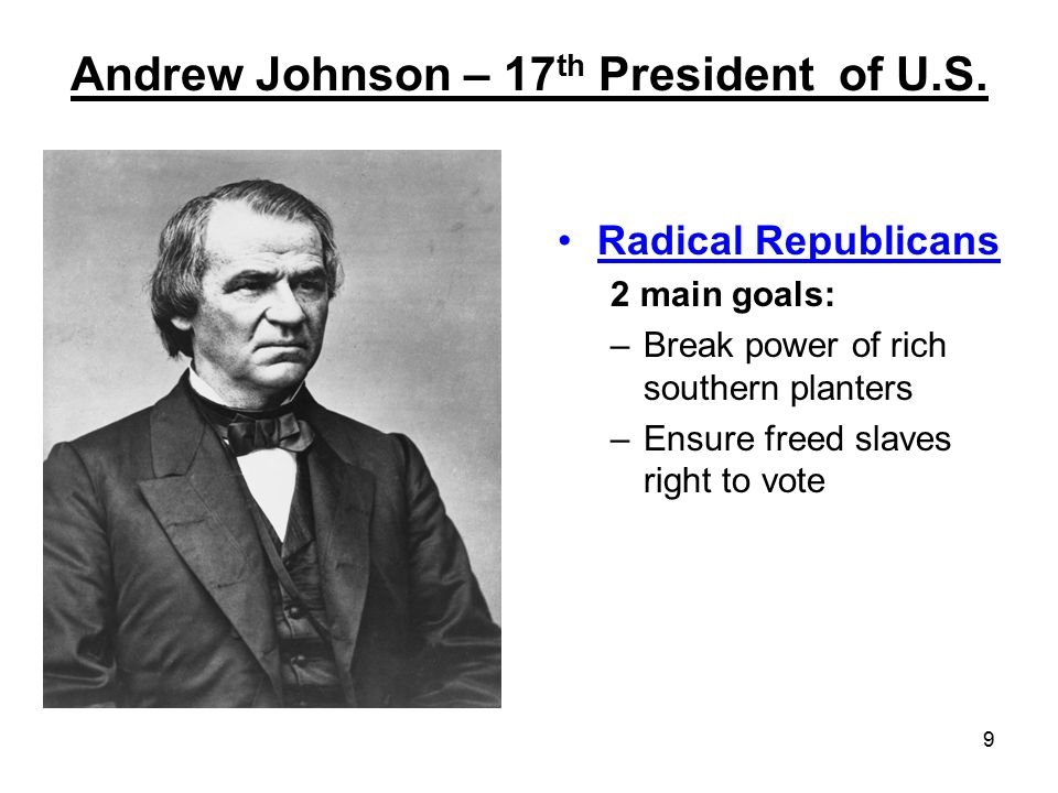 Andrew Johnson – 17th President of U.S.