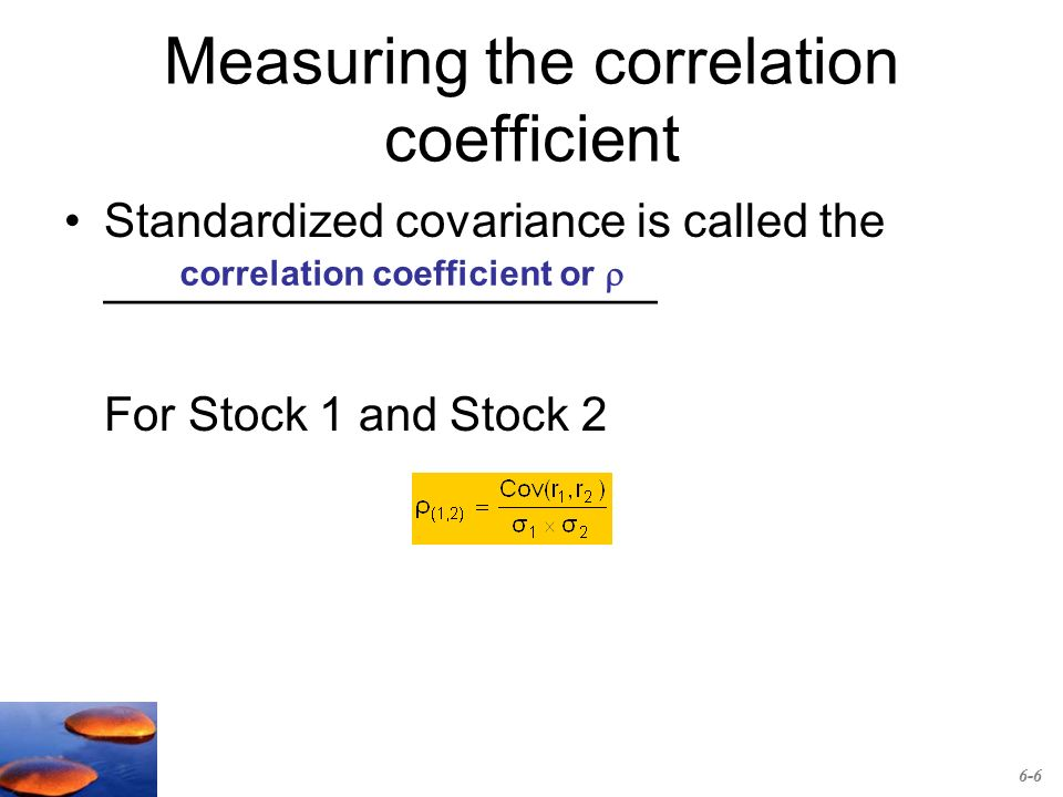 how to find correlation coefficient of two stocks