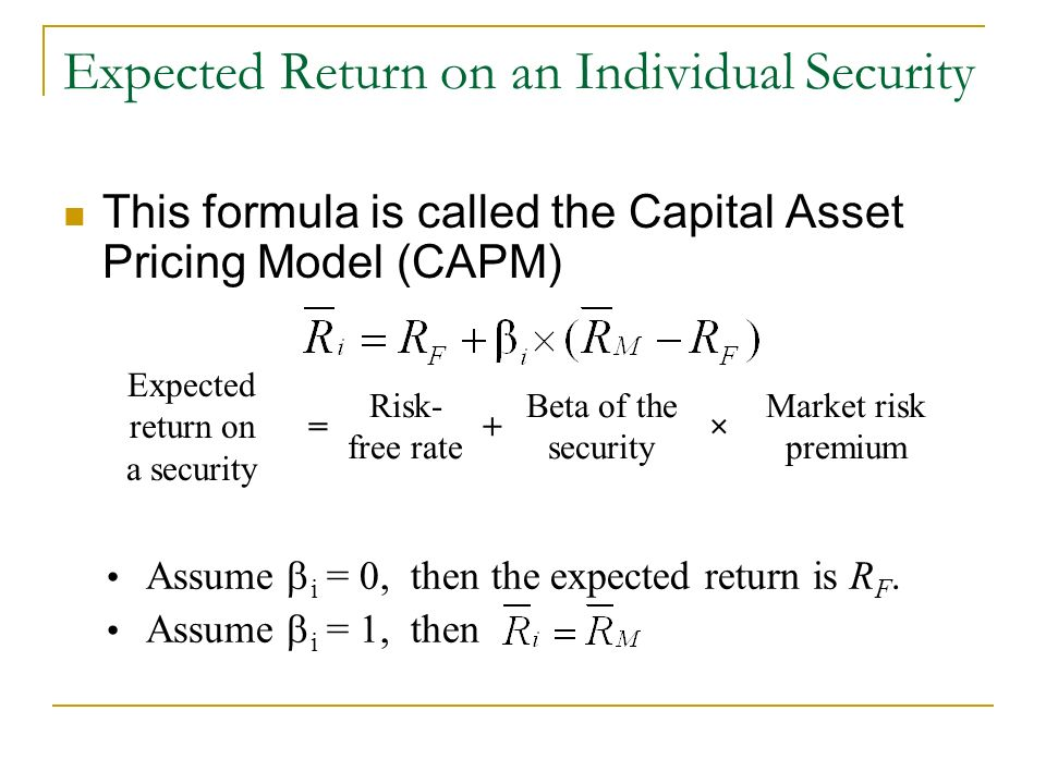 relationship between beta and expected return