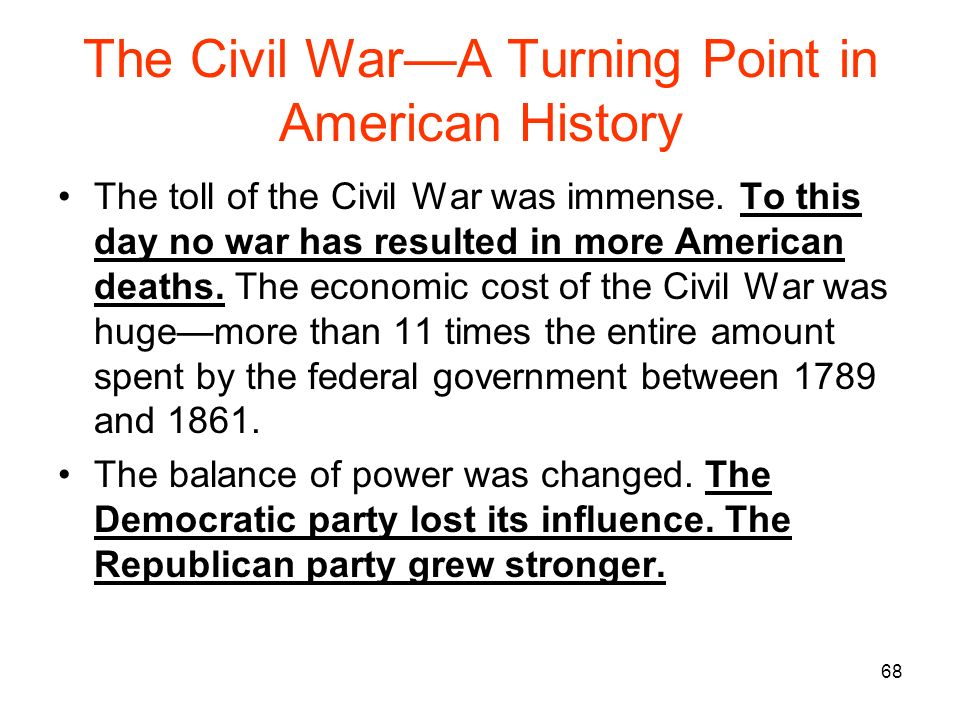 us civil war turning point essay Turning point in the american civil war essay - in the american civil war, gettysburg is perhaps the turning point of the war, and it is also the last invasion on north american soil gettysburg, at the time, was just a small-time town before and during the civil war any, yet forever changed after the battle.