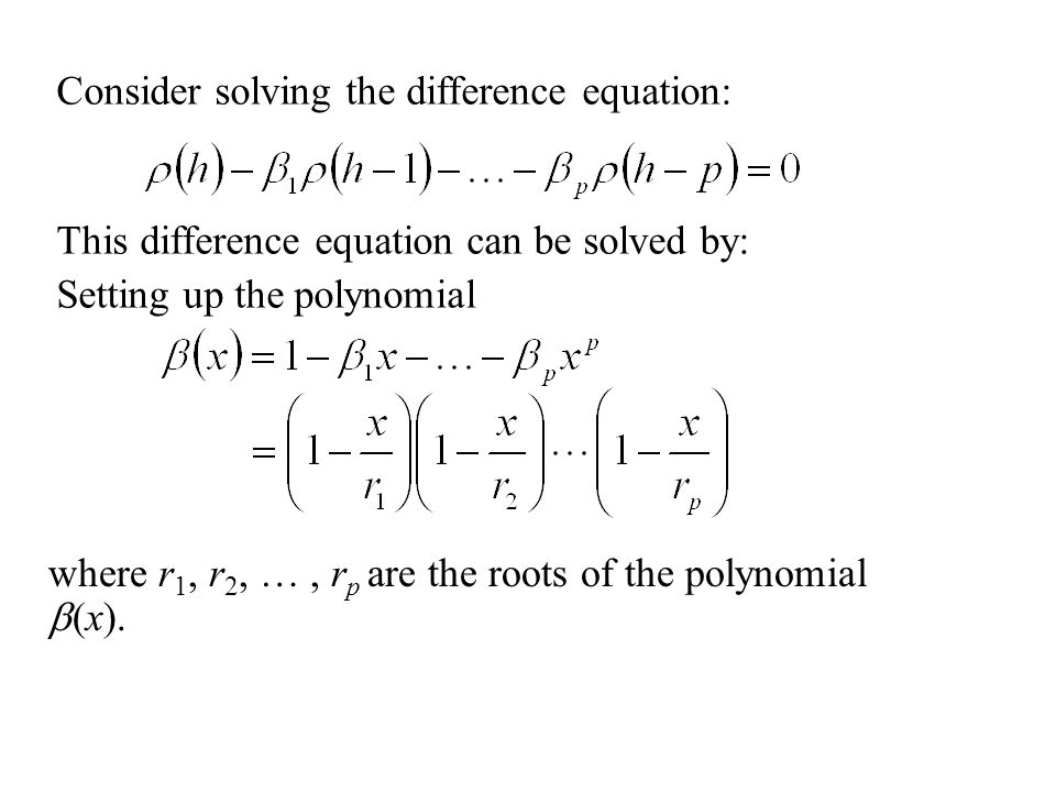 how to find a difference equation of a sequence