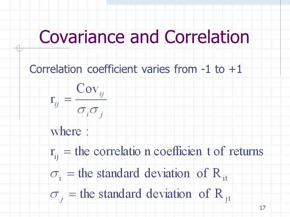 Covariance Formula Of Portfolio
