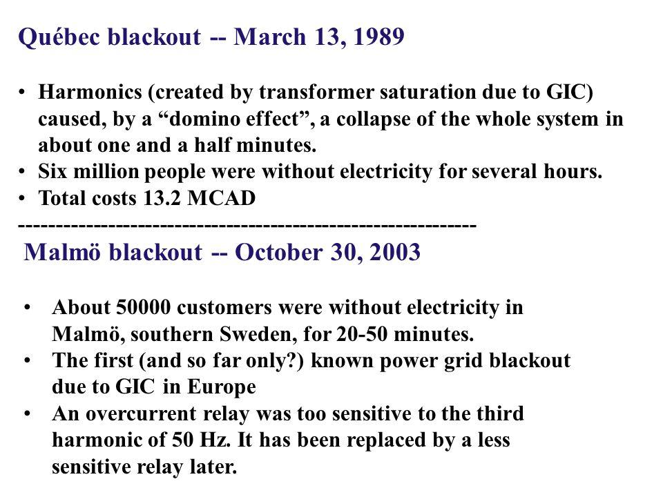Québec blackout -- March 13, 1989