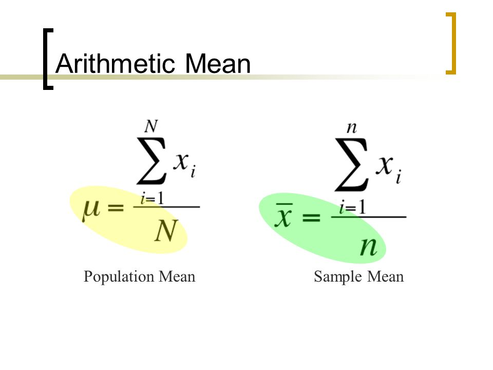 how to find sample mean from population mean