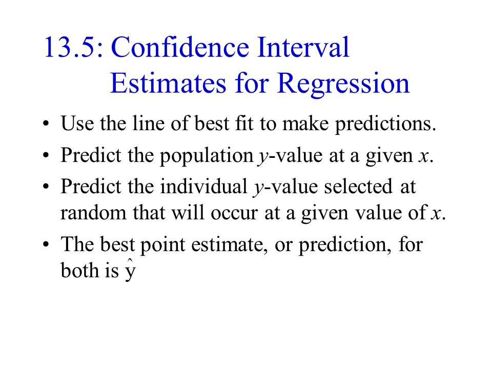 how to use regression line to predict
