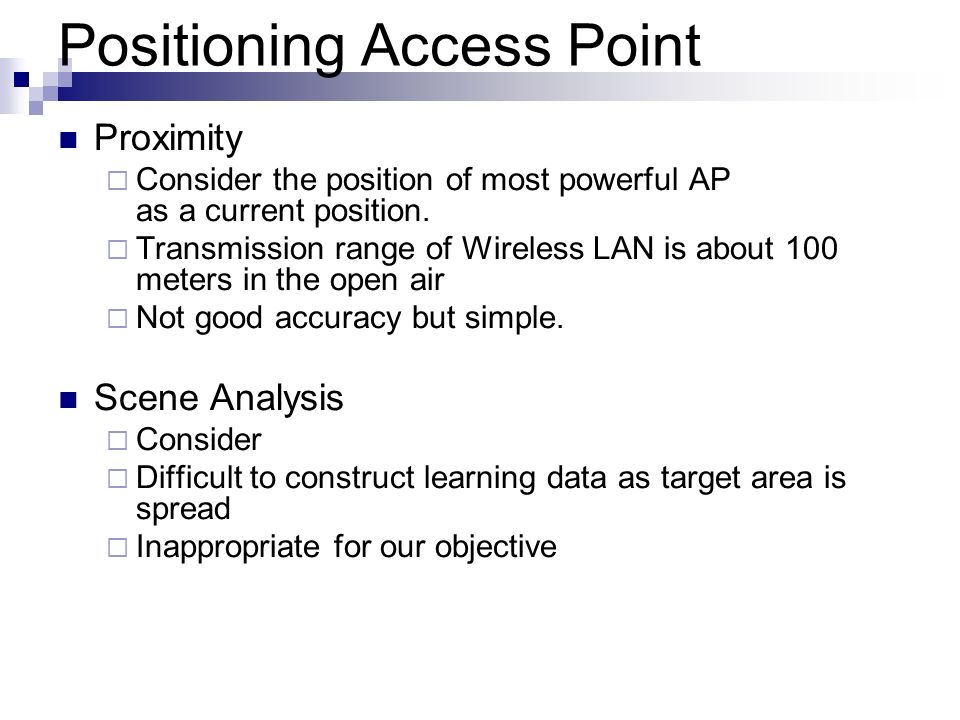 Positioning Access Point