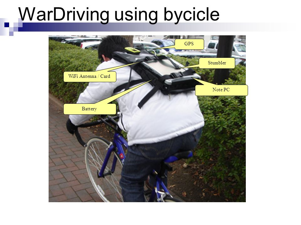 WarDriving using bycicle