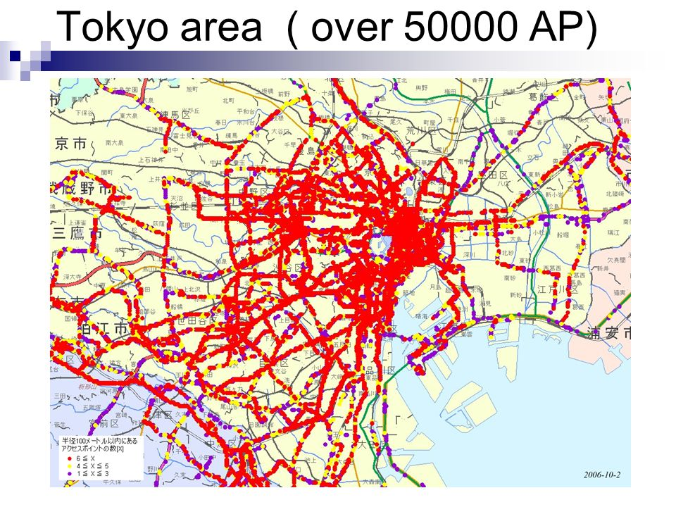 Tokyo area ( over 50000 AP)