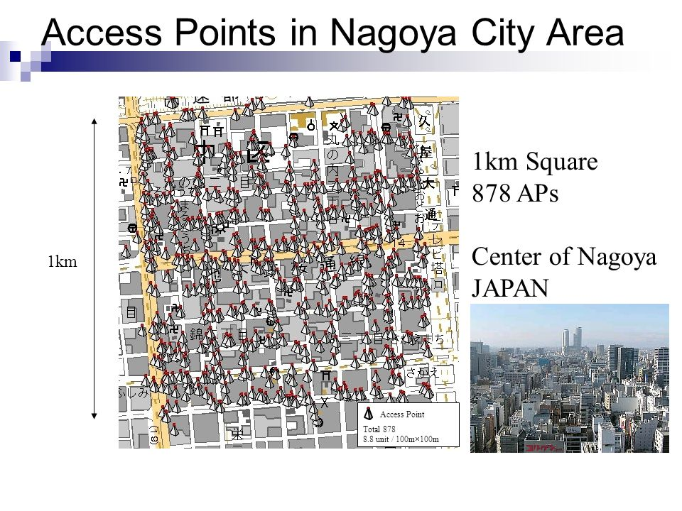 Access Points in Nagoya City Area