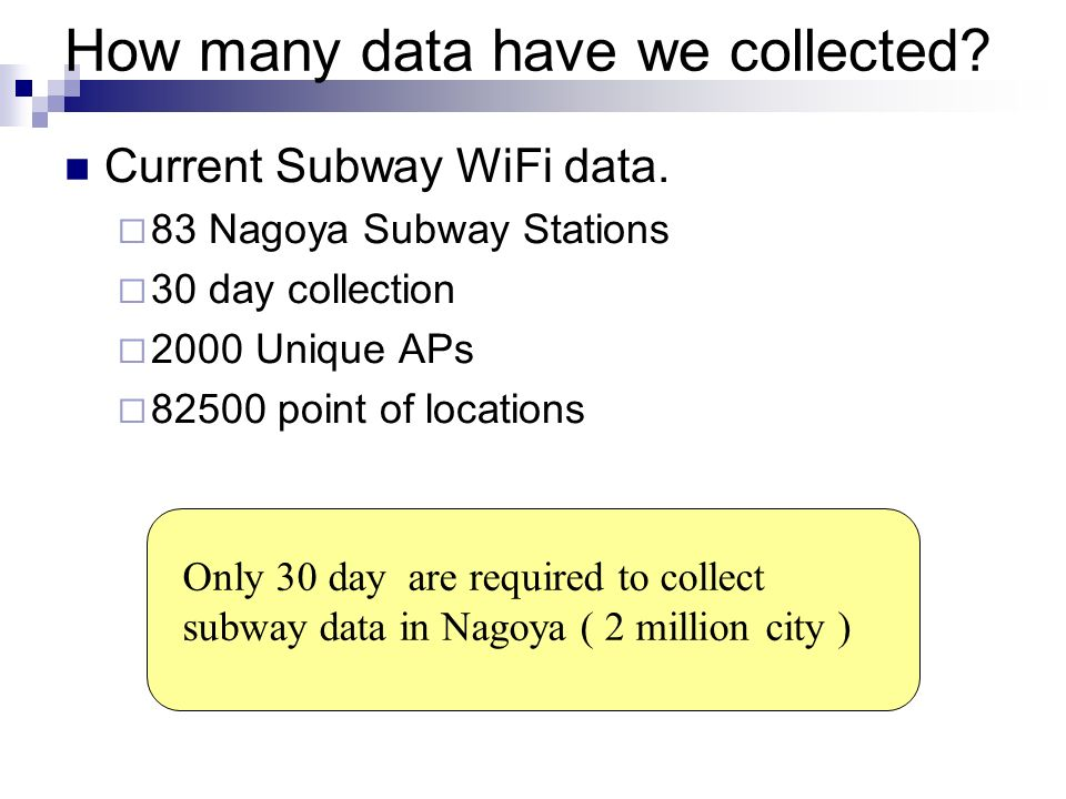 How many data have we collected