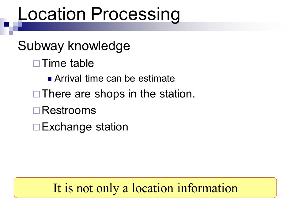 It is not only a location information