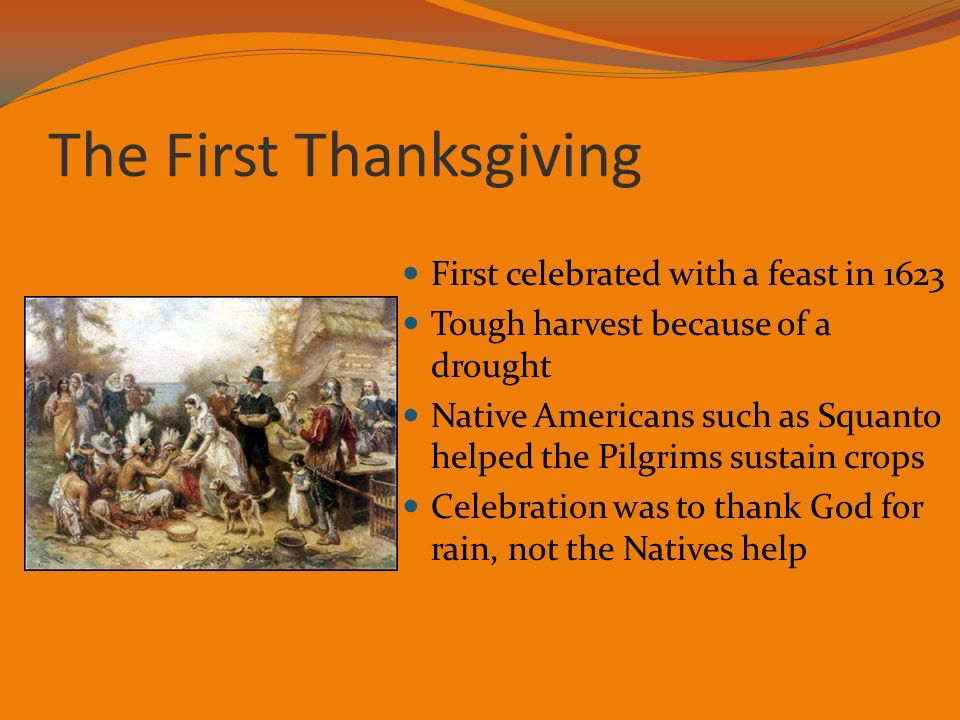 an introduction to the history of thanksgiving This history books will tell you that the first thanksgiving was celebrated by the pilgrims in 1621 not true an interesting bit of trivia is that th.