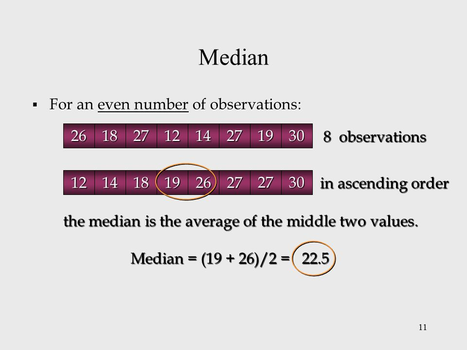 how to find median with even numbers
