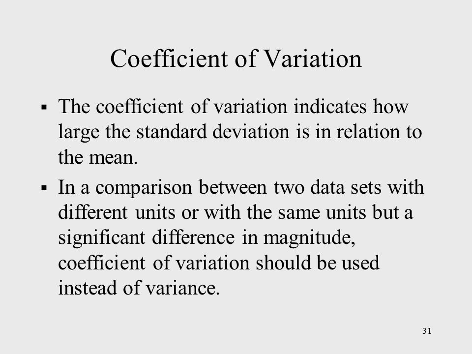 what is coefficient of variation pdf