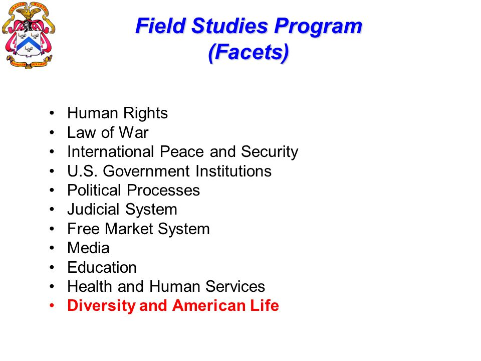 Field Studies Program (Facets)