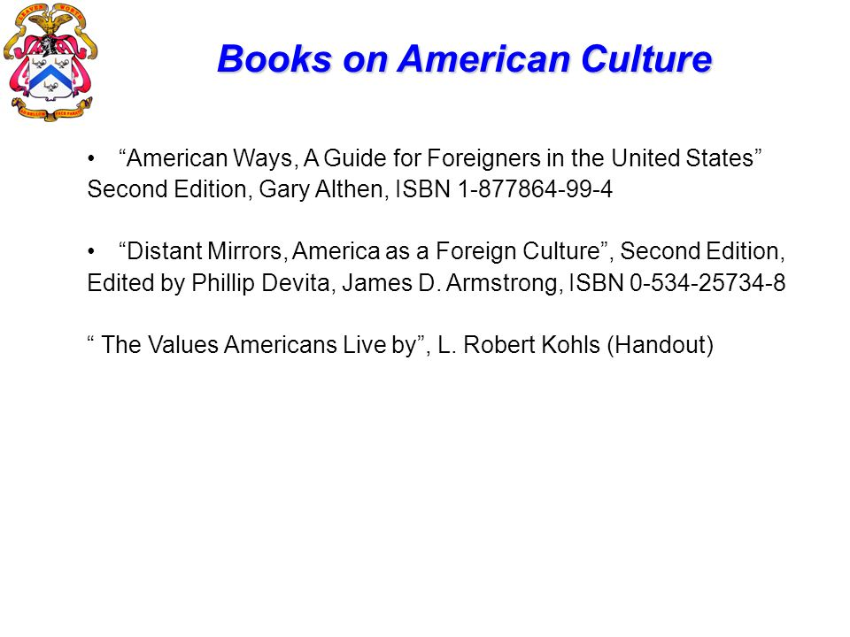 Books on American Culture